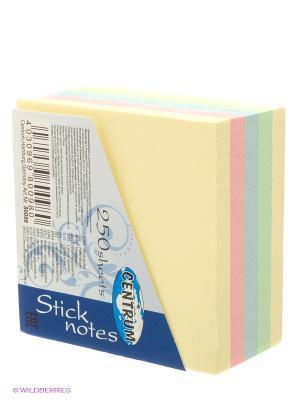 Стикеры миникуб, 250 листов Centrum. Цвет: желтый