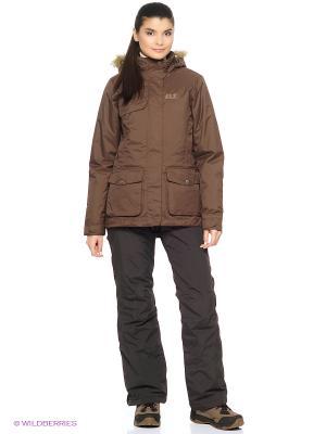 Куртка KELOWNA PARKA WOMEN Jack Wolfskin. Цвет: коричневый