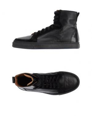 Высокие кеды и кроссовки COSTUME NATIONAL. Цвет: черный