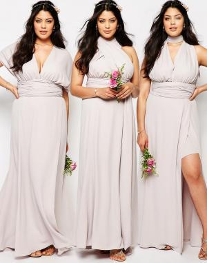Fame and Partners Plus Платье-трансформер Ainsley. Цвет: серый