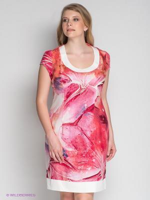 Платье Klimini. Цвет: розовый, белый