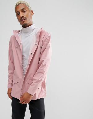 Rains Розовая укороченная непромокаемая куртка. Цвет: красный