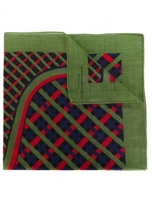 Нагрудный платок с сетчатым принтом Roberta  Di Camerino Vintage. Цвет: зелёный