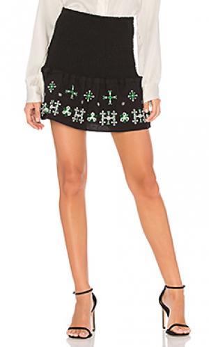 Узкая облегающая юбка compendium Flannel Australia. Цвет: черный