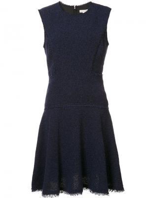 Драпированное платье без рукавов Rebecca Taylor. Цвет: синий