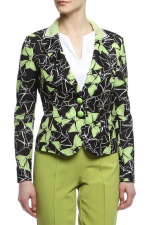 Пиджак Maria Grazia Severi. Цвет: черный, зеленый