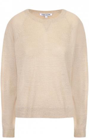 Пуловер свободного кроя с металлизированной отделкой Elizabeth and James. Цвет: золотой