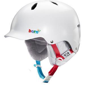 Шлем для сноуборда детский  Bandita Satin White Polar Bear/White Cordova Liner Bern. Цвет: белый,мультиколор