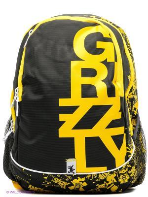 Рюкзак Grizzly. Цвет: черный, желтый