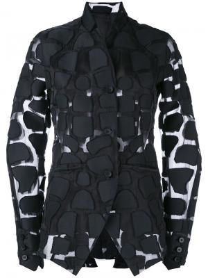 Appliqué sheer jacket Masnada. Цвет: чёрный