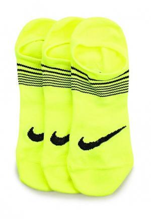 Комплект носков 3 пары Nike. Цвет: зеленый