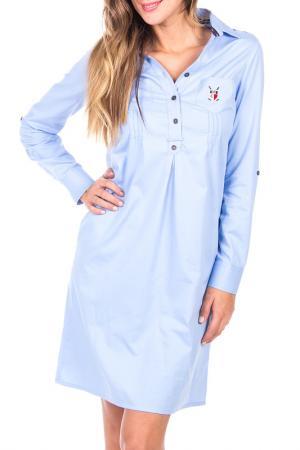 Платье POLO CLUB С.H.A.. Цвет: light blue