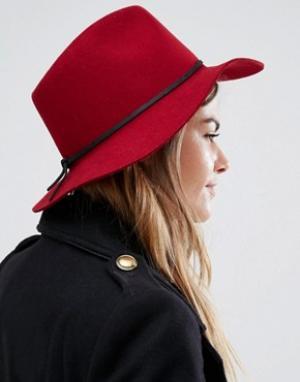 Brixton Мягкая фетровая шляпа Wesley. Цвет: красный