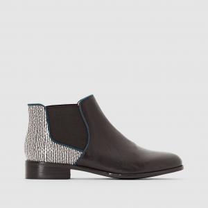 Ботинки кожаные Alizo MELLOW YELLOW. Цвет: черный