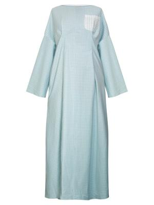 Платье с защипами голубое Bella kareema