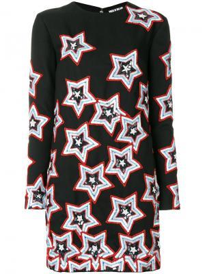 Платье с отделкой пайетками в виде звезд House Of Holland. Цвет: чёрный