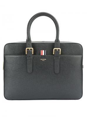 Классический портфель Thom Browne. Цвет: чёрный