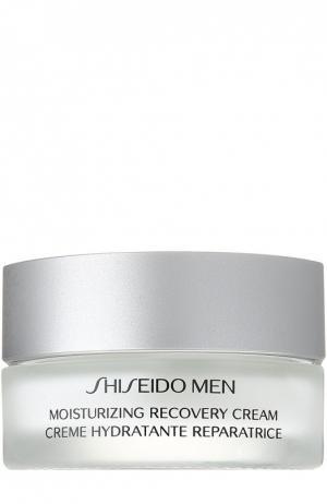 Увлажняющий восстанавливающий крем Men Shiseido. Цвет: бесцветный