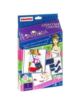 Наборы для творчества от BONDIBON и EVA MODA, Джинсовая сумочка. Цвет: темно-синий, лиловый