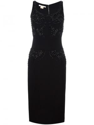 Декорированное платье без рукавов Antonio Berardi. Цвет: чёрный