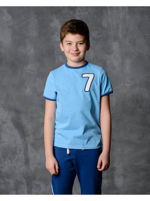 Футболка Modniy JUK. Цвет: голубой