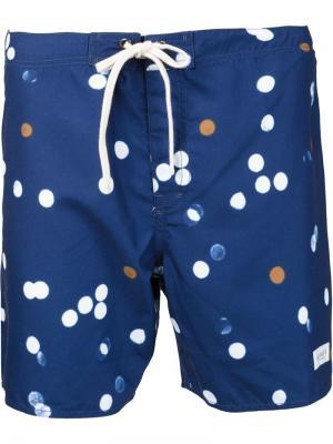 Плавательные шорты с узором в горох Saturdays Surf Nyc. Цвет: синий
