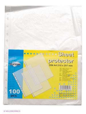 Папка-карман с перфорацией (файлы) Centrum. Цвет: белый