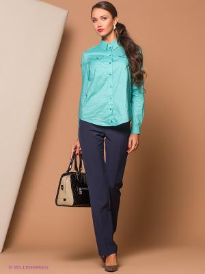 Блузка Stets. Цвет: бирюзовый