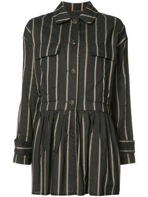 Куртка в полоску Uma Wang. Цвет: чёрный