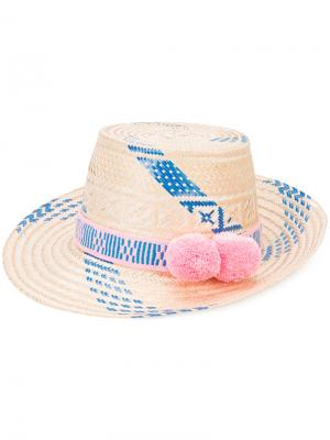 Шляпа с помпоном Marea Oceanic Yosuzi. Цвет: телесный