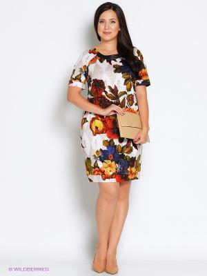 Платье Битис. Цвет: бежевый, золотистый