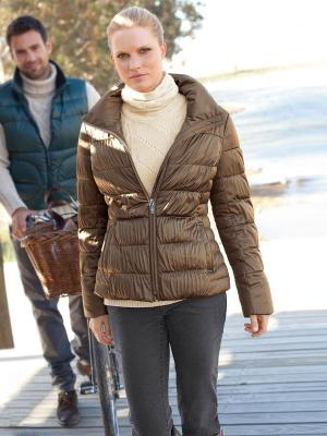 Куртка Elegance. Цвет: бронзовый