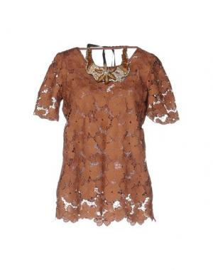 Блузка ANNA RACHELE JEANS COLLECTION. Цвет: коричневый