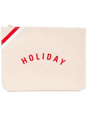 Клатч с логотипом Holiday. Цвет: телесный