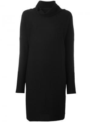 Платье с высоким воротом Daniela Gregis. Цвет: чёрный