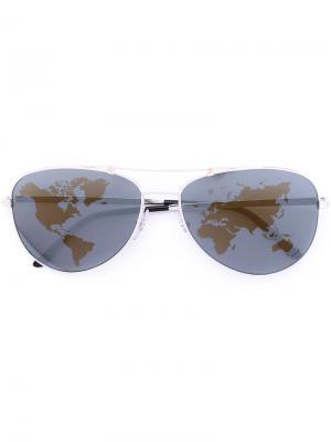 Santos sunglasses Cartier. Цвет: металлический