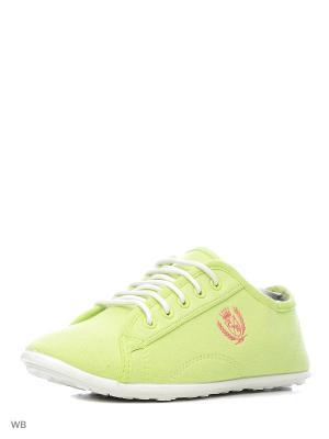 Кеды CentrShoes. Цвет: зеленый