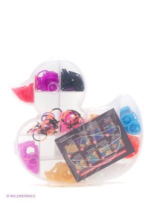 Набор резиночек для плетения браслетов Mitya Veselkov. Цвет: синий, белый, красный