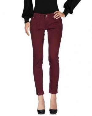 Повседневные брюки JCOLOR. Цвет: красно-коричневый