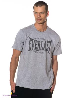 Футболка Range Crew Neck Everlast. Цвет: серый меланж, серо-коричневый