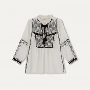 Блузка BEMMA BA&SH. Цвет: черный,экрю