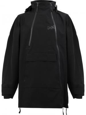 Пальто на молнии с капюшоном Yang Li. Цвет: чёрный