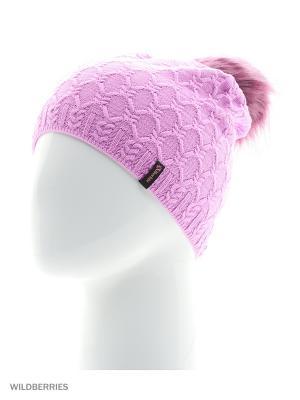 Фабритти Беркле шапка женская с помпоном Berkle. Цвет: розовый