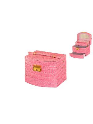 Шкатулка Светло-розовый комодик Elan Gallery. Цвет: розовый