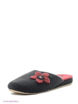 Тапочки Effa. Цвет: черный