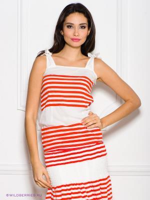Топ La Reine Blanche. Цвет: белый, оранжевый