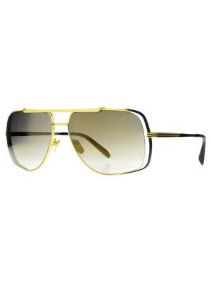 Солнцезащитные очки Dakota Smith. Цвет: желтый