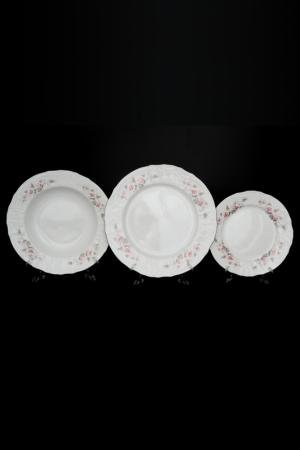 Набор тарелок 18 пр. Bohemia. Цвет: белый, серый