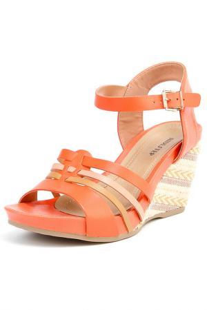 Туфли летние открытые RIDLSTEP. Цвет: оранжевый, мульти