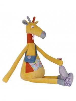 Ebulobo Мягкая игрушка Жираф Билли, 70см. Цвет: желтый